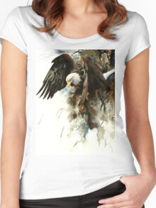 High And Mighty T-shirt femme moulant à col profond