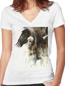 High And Mighty T-shirt femme moulant col V