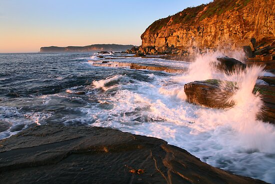 Terrigal Cliffs Assaulted, NSW, Australia by Michael Boniwell