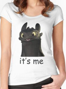 Toothless Its Me Face Women's Fitted Scoop T-Shirt