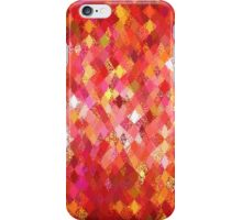 Red Abstract Harlequin Pattern  iPhone Case/Skin