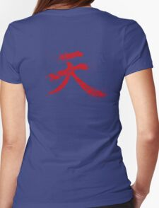 Akuma Kanji Womens Fitted T-Shirt
