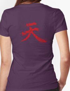 Akuma Kanji Womens Fitted T-Shirt