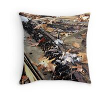 Abandoned Paino in the Woods Throw Pillow