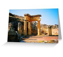 Solunto. Temple Ruins. Sicily, Italy 2005 Greeting Card