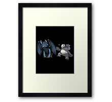 Toothless and Pokemon Framed Print