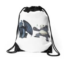 Toothless and Pokemon Drawstring Bag
