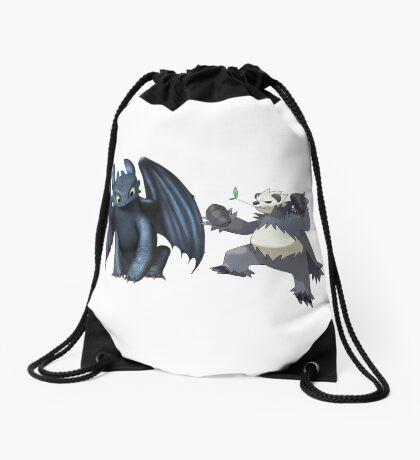 Toothless and Pokemon Drawstring Bag