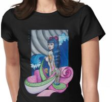 Kimono wave Womens Fitted T-Shirt
