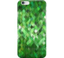Green Abstract Harlequin Pattern  iPhone Case/Skin