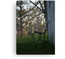 Graveyard Bench Canvas Print