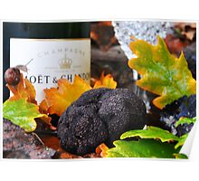 Truffles & champagne  Poster