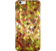 Autumn Colours Harlequin Abstract Pattern  iPhone Case/Skin