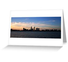 Perth Skyline Greeting Card