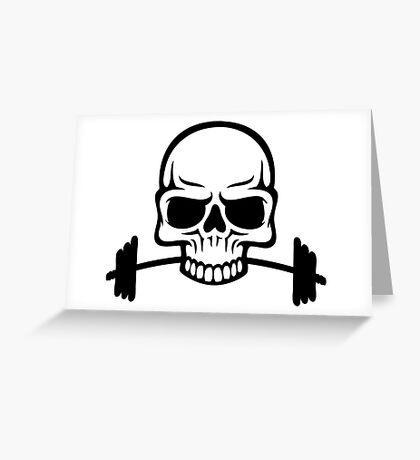 Barbell Skull Greeting Card