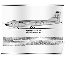 Vickers Valiant B1 Profile Poster