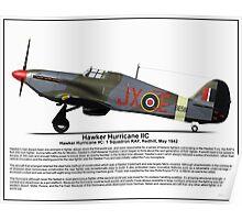 Hawker Hurricane IIC Profile Poster