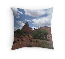 Landscape View with Clouds. Throw Pillow