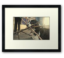 Dog of wonder.  A mouth of sticks and the house of loyalty    2darts, . Framed Print