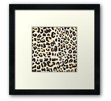 Hipster trendy black gold jaguar animal pattern Framed Print