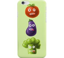 Tomato Broccoli and Eggplant Funny Cartoon Vegetables iPhone Case/Skin