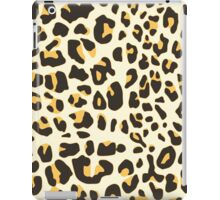 Hipster trendy black gold jaguar animal pattern iPad Case/Skin
