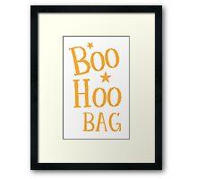 BOO HOO Bag (Anti-Halloween funny design) Framed Print