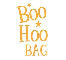 BOO HOO Bag (Anti-Halloween funny design) Photographic Print
