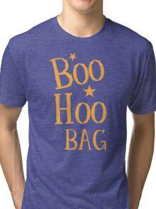 BOO HOO Bag (Anti-Halloween funny design) Tri-blend T-Shirt