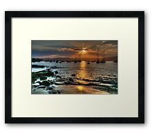Moments In Time - Paradise Beach, Sydney - The HDR Experience Framed Print
