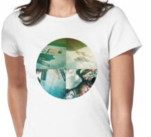 he swam in circles like a fish under the aqua water Womens Fitted T-Shirt