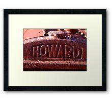 Howard - NSW Framed Print