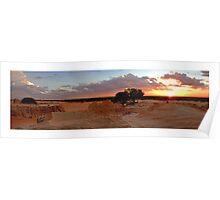 lake mungo sunset Poster