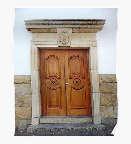 Heavy wooden doors Poster
