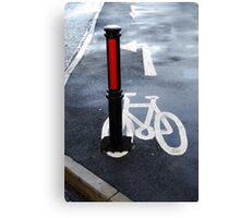 Oops Bike Lane!! Canvas Print