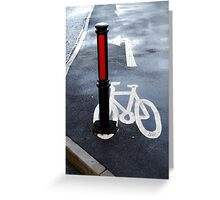 Oops Bike Lane!! Greeting Card
