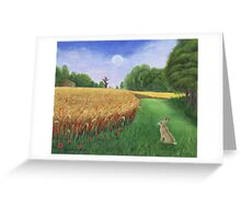Hare's Path to the Moon Greeting Card