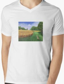 Hare's Path to the Moon Mens V-Neck T-Shirt