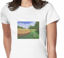 Hare's Path to the Moon Womens Fitted T-Shirt