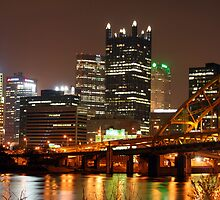 Pittsburgh Skyline - The Steel City! by AngelRivera