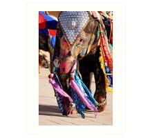 Elephant Ho... Ho... Ho... Art Print