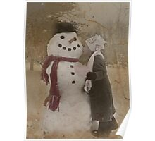 Kissing Frosty Poster