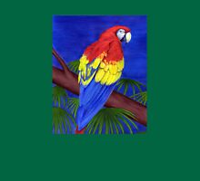 Scarlet Red Macaw (Ara macao) Womens Fitted T-Shirt
