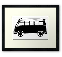 Sp;lit screen surf bus Framed Print