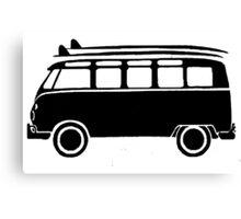 Sp;lit screen surf bus Canvas Print
