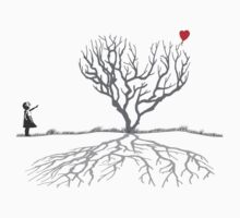 Banksy Heart Tree One Piece - Short Sleeve