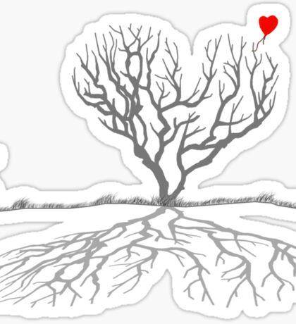 Banksy Heart Tree Sticker