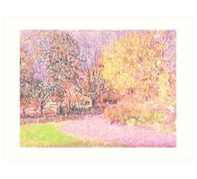 Through the park and to the shops.  Art Print