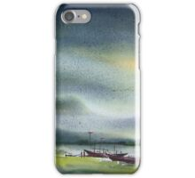 Monsoon Village River & Fishing Boats iPhone Case/Skin