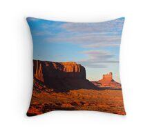 Sentinel Mesa Sunset Throw Pillow